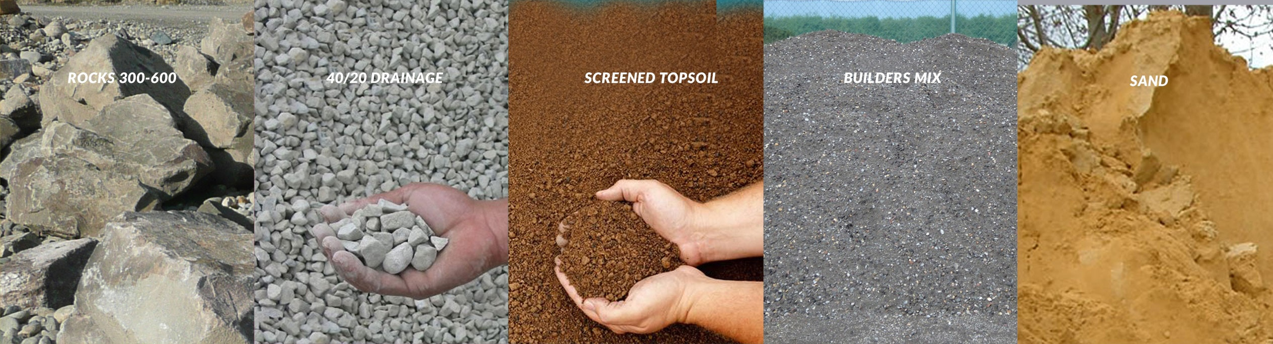 Graded metal aggregates soils for your next job